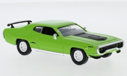 voiture miniature - <strong>Plymouth</strong> GTX, vert/matte-noire, 1971<br /><br />Lucky Die Cast, 1:43<br />N° 245300