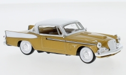 автомодель - <strong>Studebaker</strong> Golden Hawk, gold/weiss, 1958<br /><br />Lucky Die Cast, 1:43<br />№ 245302