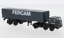 Modelcar - <strong>Fiat</strong> 690 T, FERCAM, flatbed platform trailer-SZ with cover, 1960<br /><br />Brekina Starline, 1:87<br />No. 245380