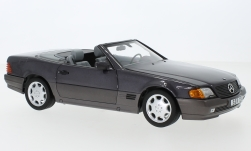 Modellauto - <strong>Mercedes</strong> 500 SL (R129), metallic-helllila, mit Softtop und Hardtop, 1988<br /><br />I-Norev, 1:18<br />Nr. 245513