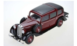 Modellauto - <strong>Mercedes</strong> 260 D (W138) Pullman Landaulet, purper/zwart, gesloten Kap, 1936<br /><br />Triple 9 Collection, 1:18<br />Nr. 245542