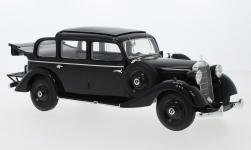 Modellauto - <strong>Mercedes</strong> 260 D (W138) Pullman Landaulet, zwart, open Kap, 1936<br /><br />Triple 9 Collection, 1:18<br />Nr. 245544