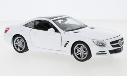 Modelcar - <strong>Mercedes</strong> SL 500 (R231), white, roof closed, 2012<br /><br />Welly, 1:24<br />No. 245676