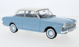 Modellauto - <strong>Ford</strong> Taunus 12M (P4) Limousine, hellblau/weiss, 1965<br /><br />BoS-Models, 1:18<br />Nr. 245687