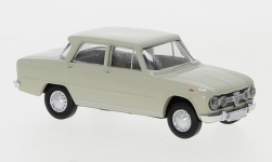 voiture miniature - <strong>Alfa Romeo</strong> Giulia 1600, gris clair, 1962<br /><br />Brekina, 1:87<br />N° 245724