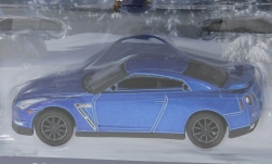 Modellauto - <strong>Nissan</strong> GT-R (R35), metallic-blau, Holiday Ornaments, 2015<br /><br />Greenlight, 1:64<br />Nr. 246034