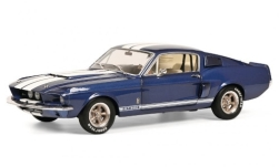 ModelCar - <strong>Ford</strong> Shelby Mustang GT 500, metallic-blau/weiss, 1967<br /><br />Solido, 1:18<br />No. 246067