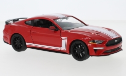 Modellauto - <strong>Ford</strong> Mustang GT, rot/weiss, 2018<br /><br />Motormax, 1:24<br />Nr. 246458