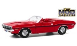 Modelo de coche - <strong>Dodge</strong> Challenger R/T Convertible, rojo/Decorado, The Mod Squad, 1970<br /><br />Greenlight, 1:18<br />Nº 247131