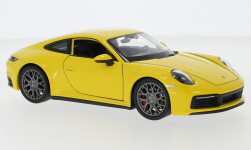 Modellino - <strong>Porsche</strong> 911 Carrera 4S, giallo<br /><br />Welly, 1:24<br />n. 247194