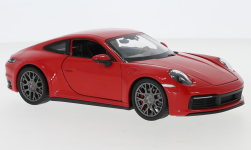 voiture miniature - <strong>Porsche</strong> 911 Carrera 4S, rouge<br /><br />Welly, 1:24<br />N° 247195