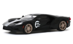 Modellino - <strong>Ford</strong> GT 66 Heritage Edition, nero/argento, No.2, 2017<br /><br />Greenlight, 1:43<br />n. 247223