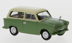 Modelcar - <strong>Trabant</strong> P 50 station wagon, green/light beige, 1960<br /><br />Brekina, 1:87<br />No. 247639