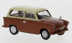 Modelcar - <strong>Trabant</strong> P 50 station wagon, brown/light beige, 1960<br /><br />Brekina, 1:87<br />No. 247640
