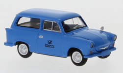 Modellauto - <strong>Trabant</strong> P 50 Stationwagon, blauw, Duits Post Studiotechnik, 1960<br /><br />Brekina, 1:87<br />Nr. 247641