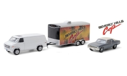 Modelcar - <strong>GMC</strong> Vandura, white, Beverly Hills Cop, with Zweiachs-passenger car-trailer and 1970 Chevrolet Nova, 1983<br /><br />Greenlight, 1:64<br />No. 247690