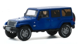 ModelCar - <strong>Jeep</strong> Wrangler Unlimited Freedom Edition, blau/Dekor, 2013<br /><br />Greenlight, 1:43<br />番号 247724