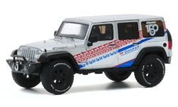Modelcar - <strong>Jeep</strong> Wrangler Unlimited, silver/Decorated, 150 Years BF Goodrich, 2017<br /><br />Greenlight, 1:43<br />No. 247725