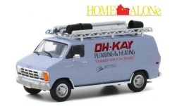 Modellauto - <strong>Dodge</strong> RAM Van, Oh-Kay Plumbing & Heating, Home Alone (Kevin - Allein zu Haus), 1986<br /><br />Greenlight, 1:43<br />Nr. 247727