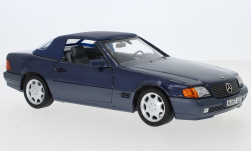 Modellauto - <strong>Mercedes</strong> 500 SL (R129), metallic-dunkelblau, 1989<br /><br />Norev, 1:18<br />Nr. 247930