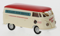 Modellauto - <strong>VW</strong> T1b Doos, Midland Sign Service, 1960<br /><br />Brekina, 1:87<br />Nr. 248067