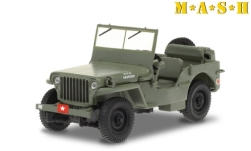 Modellauto - <strong>Willys</strong> MB Jeep, oliv/Dekor, M*A*S*H (1972-83 TV-Series), 1942<br /><br />Greenlight, 1:43<br />Nr. 249182