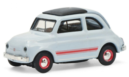 Modellauto - <strong>Fiat</strong> 500, hellblau/rot<br /><br />Schuco, 1:87<br />Nr. 249617