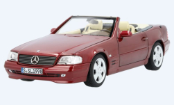 Modellauto - <strong>Mercedes</strong> 500 SL (R129), metallic-dunkelrot, 1998<br /><br />I-Norev, 1:18<br />Nr. 249903