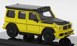 Modelcar - <strong>Mercedes</strong> AMG G 63 Liberty Walk, yellow/matt-black, 2018<br /><br />Para64, 1:64<br />No. 250144