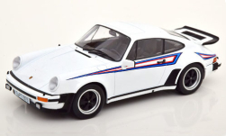 Modellino - <strong>Porsche</strong> 911 turbo 3.0 (930), bianco/decor, 1976<br /><br />KK Scale, 1:18<br />n. 250897
