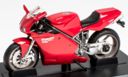 Modellauto - <strong>Ducati</strong> 998S Testastretta, rood, 2002<br /><br />SpecialC.-118, 1:24<br />Nr. 251216
