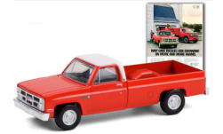 Modellauto - <strong>GMC</strong> Sierra 2500, rot/weiss, 1984<br /><br />Greenlight, 1:64<br />Nr. 251834