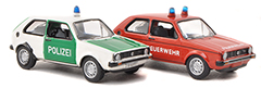 Speedy emergency vehicles by BuB in 1:87-Scale