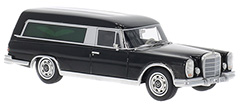 Mercedes 600 Pollmann Hearse by BoS-Models in 1:43 exclusively at Model Car World