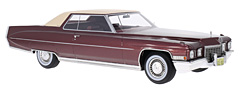 1972 Cadillac Coupe de Ville in 1:18-Scale exclusively at Model Car World