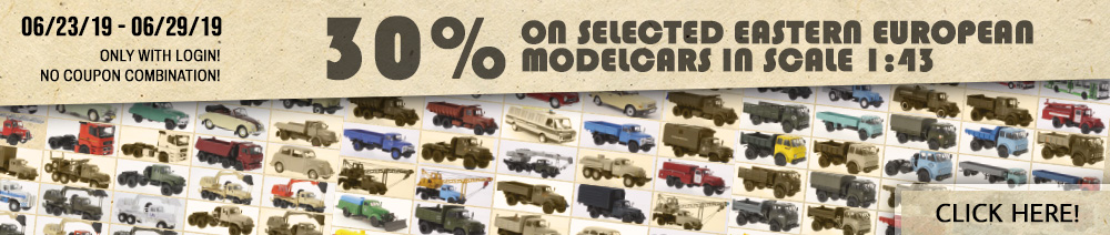 30% Discount on selected Eastern Europe modelcars in scale 1:43?t=1561391043