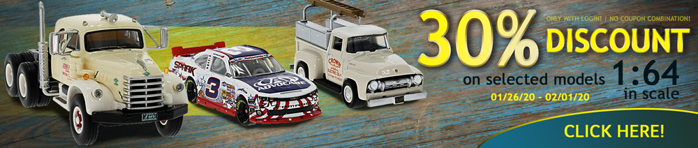 500 x 30% Discount on selected models in 1:64 scale?t=1580331191