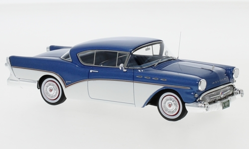 Buick Roadmaster Hardtop Coupe, metallic-blau/weiss