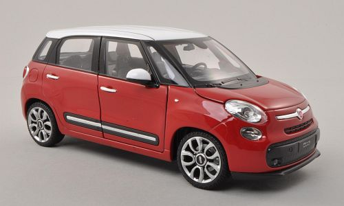 fiat 500l rot weiss 1 24 welly ebay. Black Bedroom Furniture Sets. Home Design Ideas