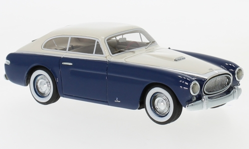 Cunningham C-3 Continental Coupe by Vignale, dunkelblau/weiss