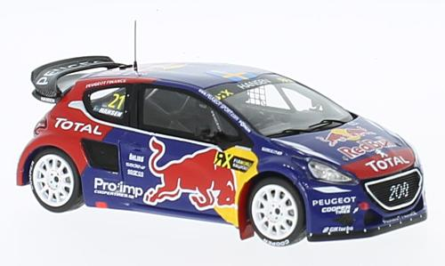 Peugeot 208 WRX, No.21, Team Peugeot Hansen, Red Bull, Rallye-Cross WM, Frankreich