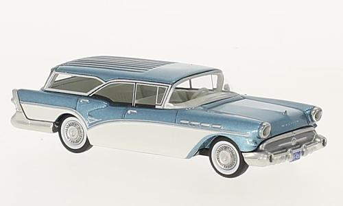 Buick Century Caballero Estate Wagon, metallic-blau/weiss