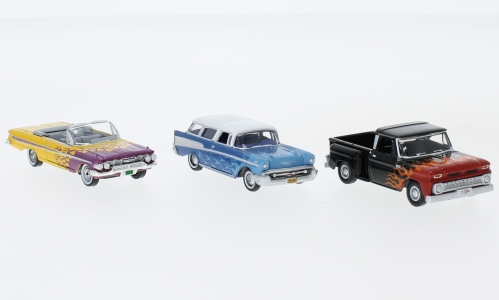 Chevrolet 3er-Set: Hot Rods