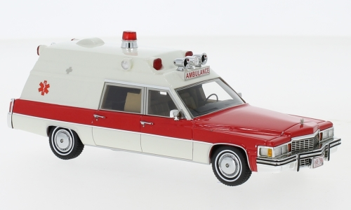 Cadillac Superior Ambulance, weiss/rot