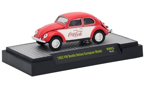 VW Beetle Deluxe European Model, rot/weiss, Coca Cola