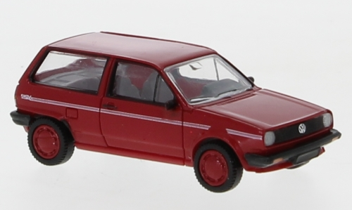 VW Polo II Fox, rot/Dekor