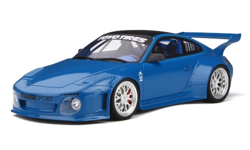 Porsche 911 (997) Slant Nose Old & New Body Kit, blau