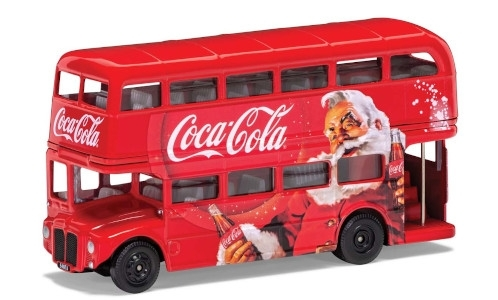 AEC Routemaster London Christmas Bus, rot, Coca Cola