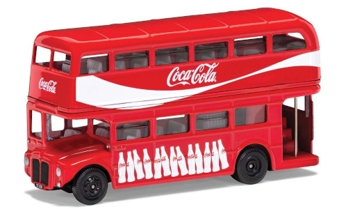 AEC Routemaster London Bus, rot, Coca Cola