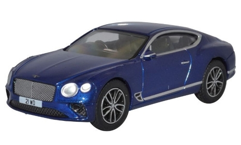 Bentley Continental GT, blau, RHD